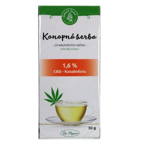CBD Konopný čaj porciovaný 30g