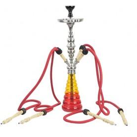 Vodná fajka Aladin ROY 34 - Havanna červená - oranžová 87 cm