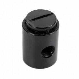 Šlukovka mini fajka bez sitka 10,5 cm v čiernom farebnom prevedení - detail kotlíka so zárezom pre jednoduchšie odskrutkovanie