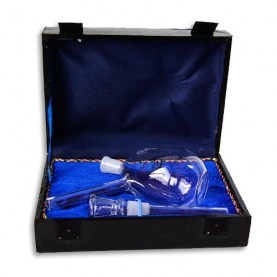 Sklenený bong v kufríku mini