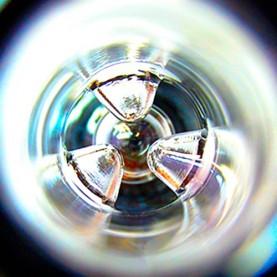 Bong sklo s precoolerom 23,5 cm - Black