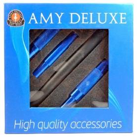 Silikónová hadica AMY na vodnú fajku mat blue