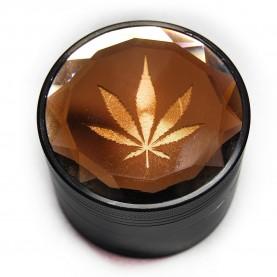 Drvička Canabis leaf - Gold