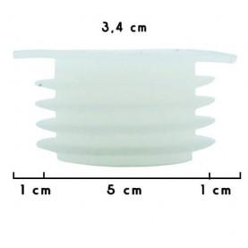 Tesnenie na vázu vodnej fajky biele V