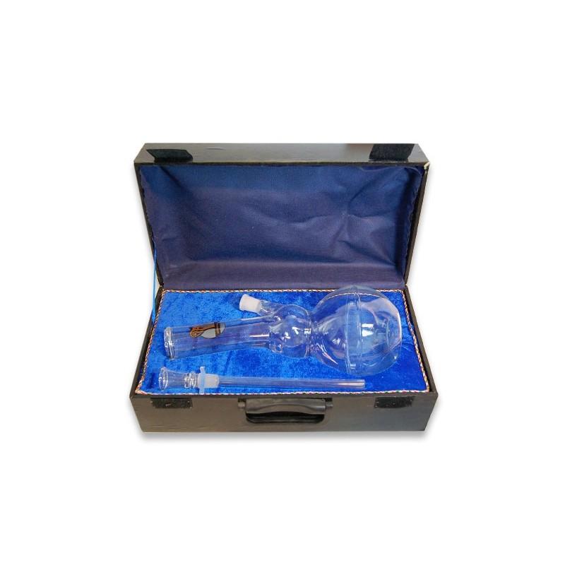Sklenený bong v kufríku 1245