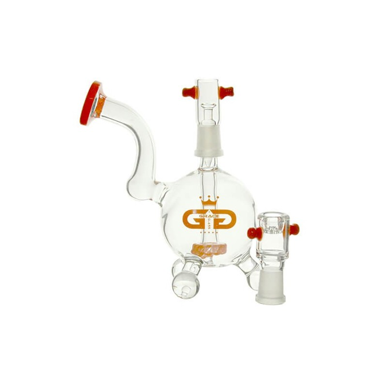 Bong Boxed GG Mini Ball amber 16 cm