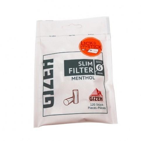 Mentolové Slim filtre Gizeh
