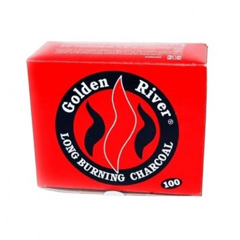 Uhlíky do vodnej fajky Golden River 33mm box po 10ks