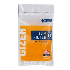 Uhlíkové cigaretové filtre Gizeh Slim 120 ks