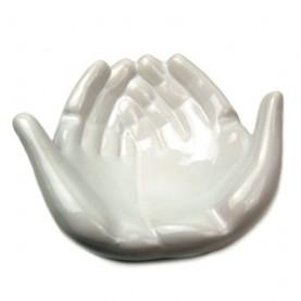 Popolník keramický white hands