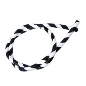 Silikónová hadica DUD na vodnú fajku - bielo/čierna