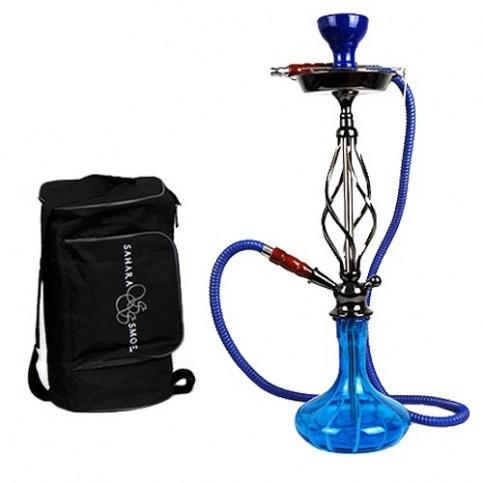 Vodná fajka Sahara Smoke Candy Stripe modrá 60cm