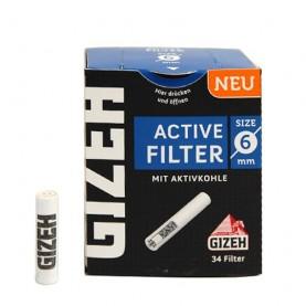 Gizeh Uhlíkové filtre 6mm