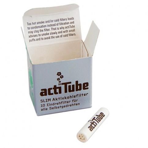 Uhlíkové filtre ActiTube - Slim 10ks