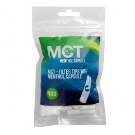 Cigaretové filtre MCT Mentol - Pukacie Kapsule 100 ks