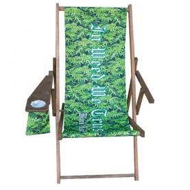 Plážové Lehátko Black Leaf - In weed we trust