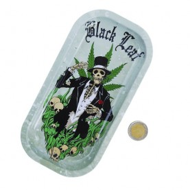 Roll tray tácka Black Leaf - Skeleton
