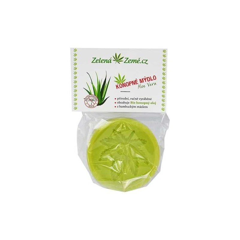 Konopné mydlo - Aloe Vera 80g