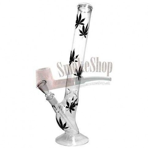Bong sklo Leaf Blacky