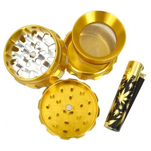 Gold Set: Drvička a Kovový clipper zapaľovač
