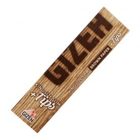 Papieriky Gizeh Brown King Size Slim + filtre