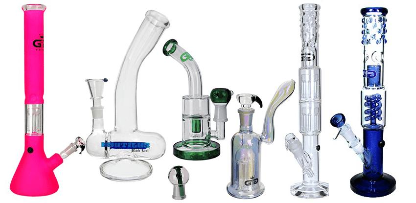 sklenené vodné bongá