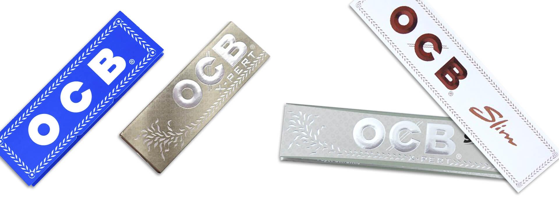 Cigaretové papieriky OCB - rôzne druhy papierikov
