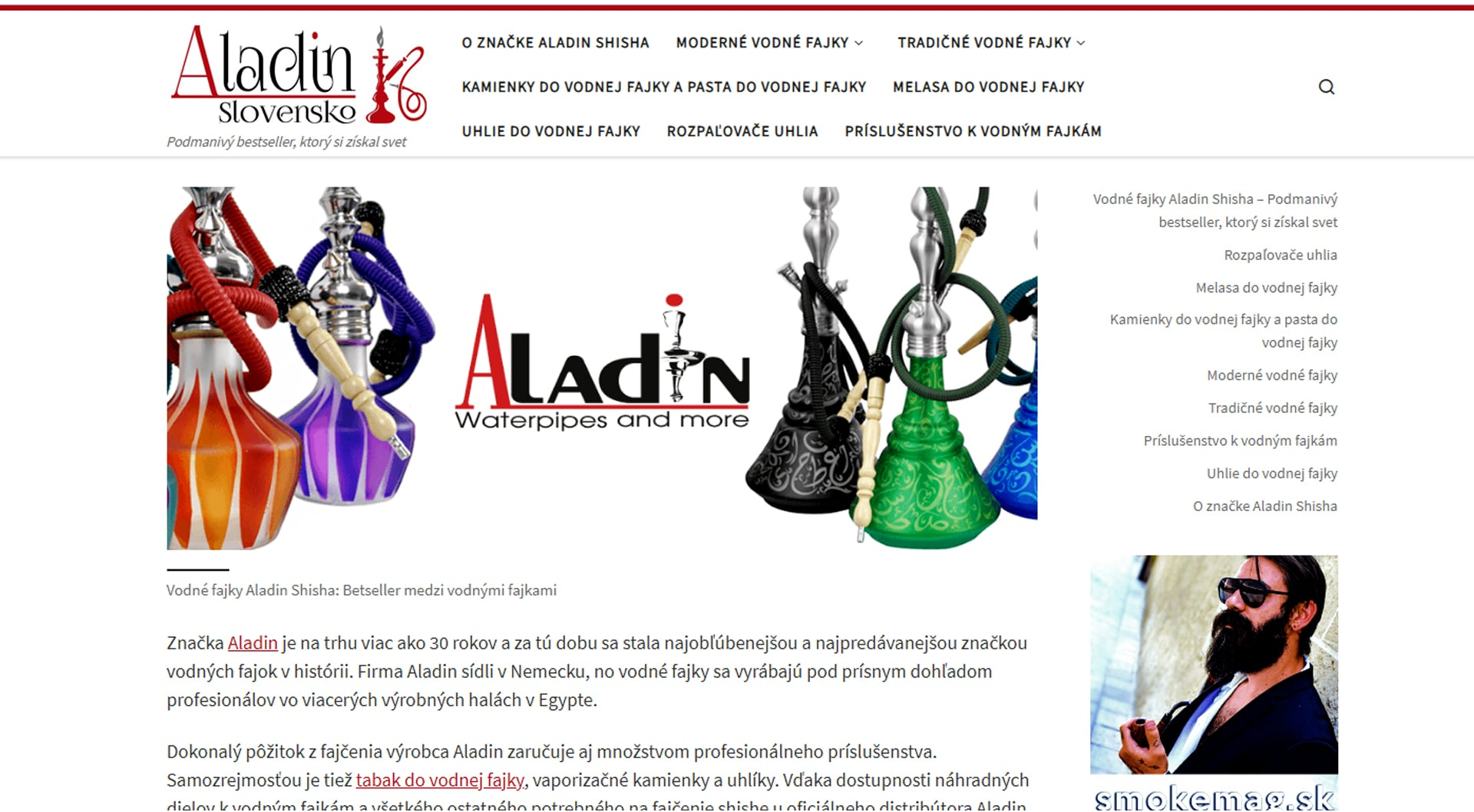 Náhľad webu www.aladin.sk
