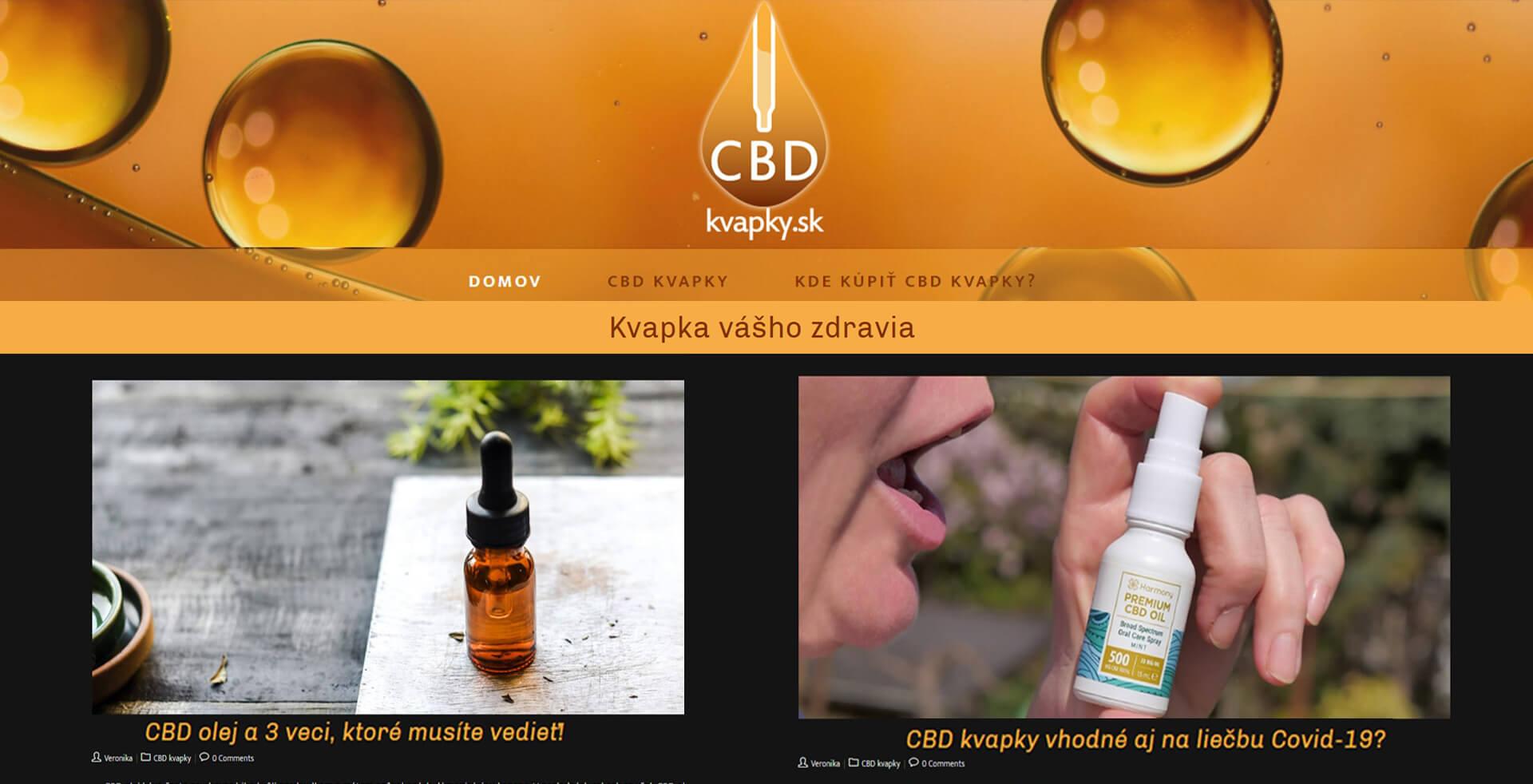 Náhľad webu www.cbd-kvapky.sk
