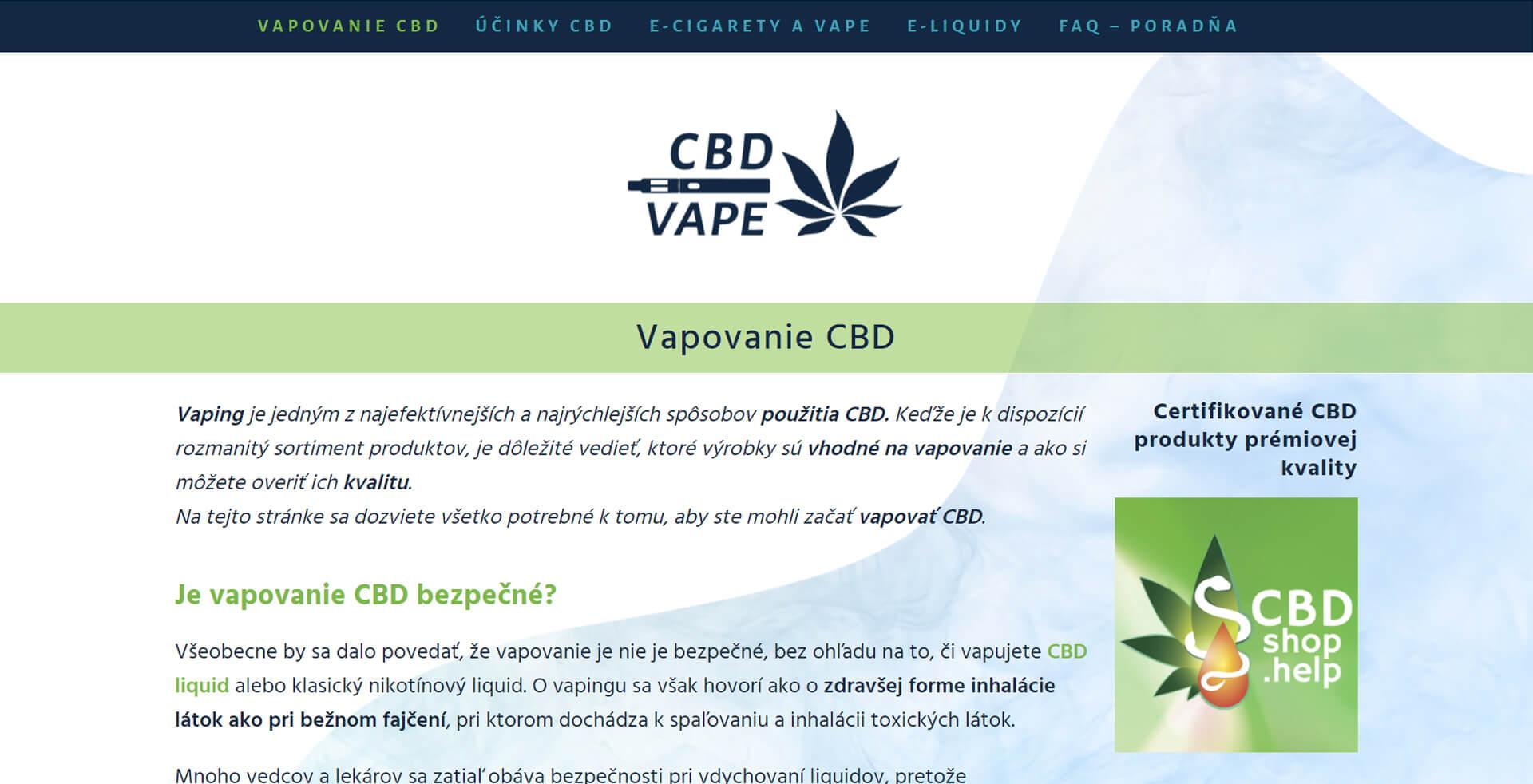 Náhľad webu www.cbd-vape.sk