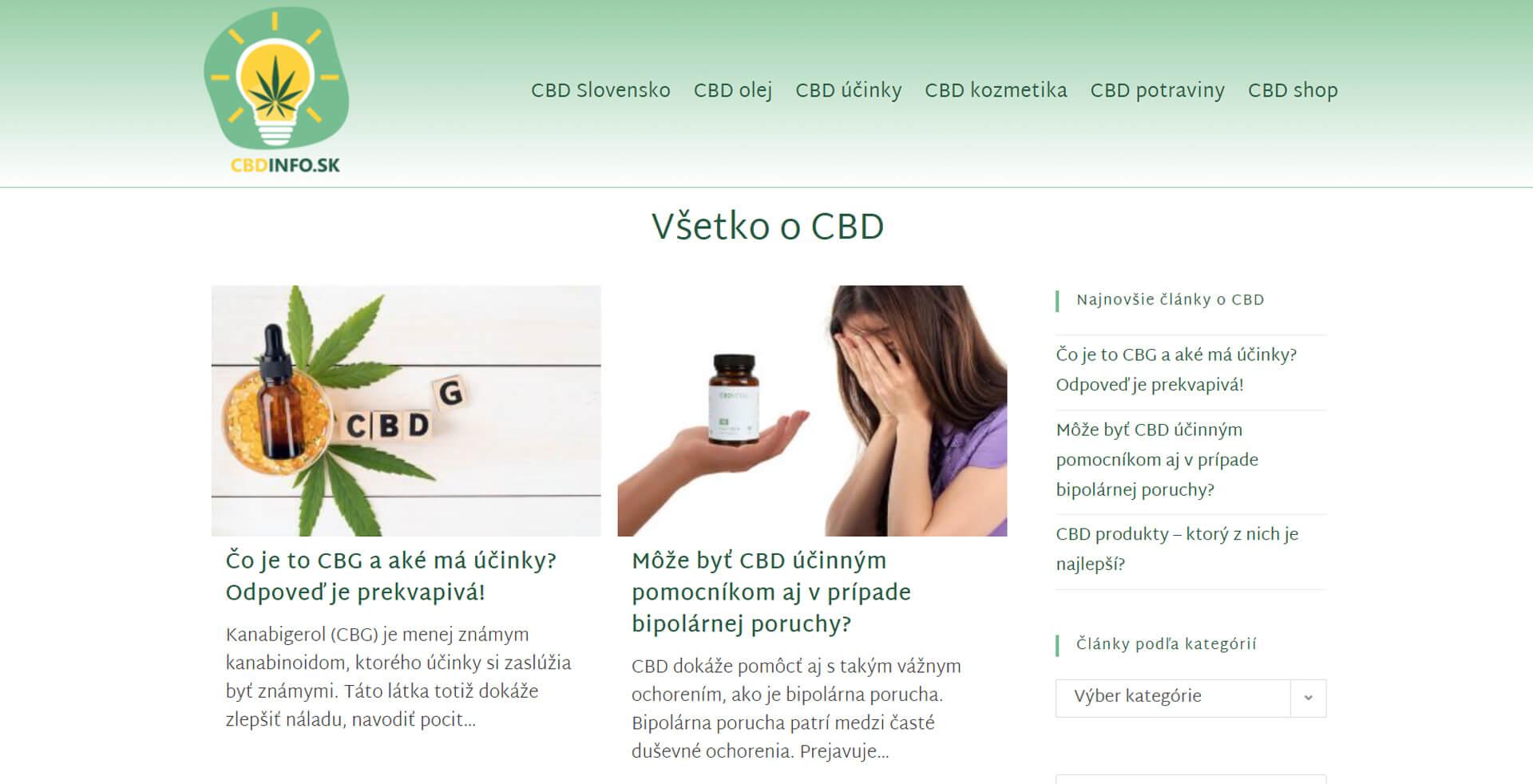 Náhľad webu www.cbdinfo.sk