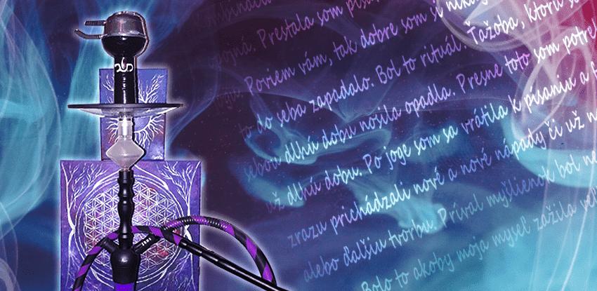 shisha text dym vodná fajka kreativita