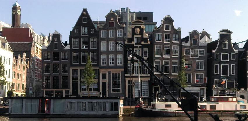 amsterdam ulica domy kanal