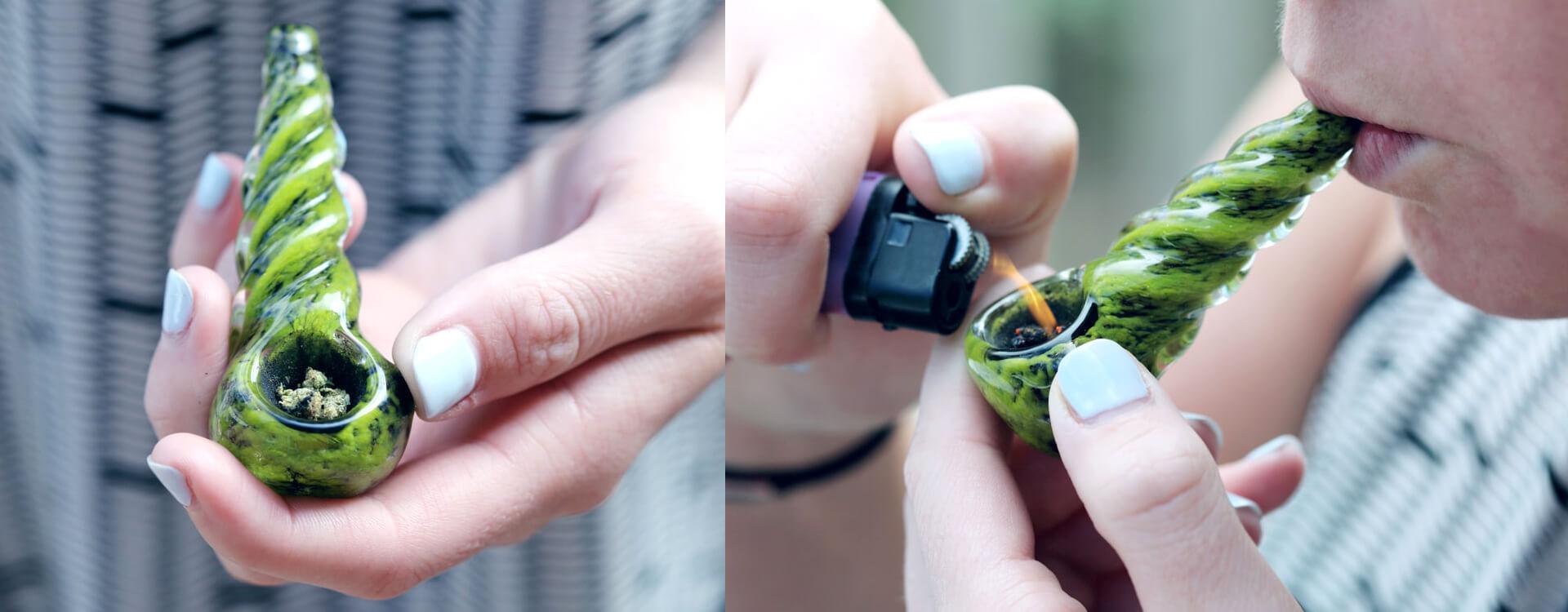 Pyrexová šlukovka a fajčenie z nej