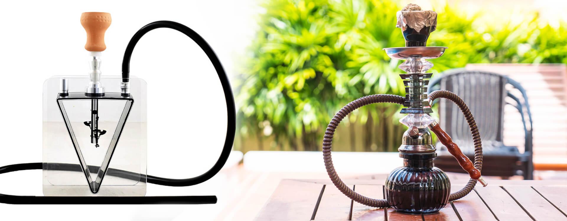Prenosná vodná fajka: Aladin Acryl Hookah Edge a ďalšia vodná fajka menšej veľkosti